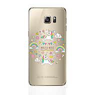 Кейс для Назначение SSamsung Galaxy S8 Plus S8 Прозрачный С узором Задняя крышка Мультипликация Мягкий TPU для S8 Plus S8 S7 edge S7 S6