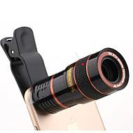 abordables Fotografía con Smartphone-Lente de cámara del teléfono móvil del telescopio óptico del foco ajustable universal del hd 8x con el clip conveniente para el iphone y