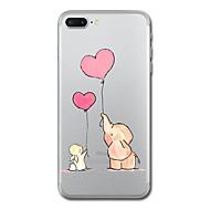 Для iphone 7 плюс 7 чехол чехол прозрачный узор задняя крышка чехол слон сердце мягкий tpu для iphone 6s плюс 6s 6 плюс 6 5s 5 se