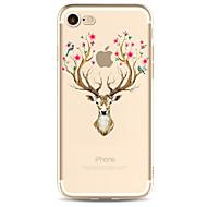 Назначение iPhone X iPhone 8 Чехлы панели Прозрачный С узором Задняя крышка Кейс для Животное Цветы Мягкий Термопластик для Apple iPhone