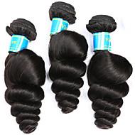 お買い得  -3バンドル ブラジリアンヘア ルーズウェーブ 人毛 人間の髪編む 人間の髪織り 人間の髪の拡張機能