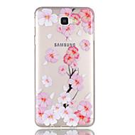 Etui Til Samsung Galaxy J7 Prime J5 Prime Transparent Mønster Bagcover Blomst Blødt TPU for J7 (2016) J7 Prime J5 (2016) J5 Prime J3 J3