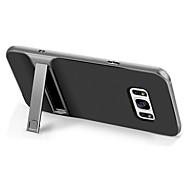 Coque Pour Samsung Galaxy S8 Plus S8 Antichoc Avec Support Coque Arrière Couleur unie Dur TPU pour S8 Plus S8 S7