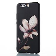 お買い得  携帯電話ケース-ケース 用途 Huawei社P9 / Huawei社P9ライト / Huawei社P8 パターン バックカバー フラワー ソフト TPU のために P10 Plus / P10 Lite / P10