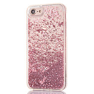 cheap Apple Accessories-Case For Apple iPhone 8 iPhone 8 Plus Rhinestone Flowing Liquid Transparent Back Cover Glitter Shine Hard PC for iPhone 8 Plus iPhone 8