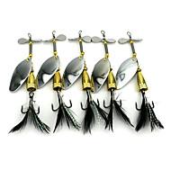5 szt Przynęta twarda Przynęta obrotówka Łyżki Przynęta metalowa g/Uncja mm calSea Fishing Bass Fishing Fishing Lure Trolling i