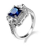 Women's Cubic Zirconia Ring - Zircon, Alloy Unique Design, Fashion, Euramerican 6 / 7 / 8 Blue For Party / Anniversary / Birthday