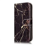 Назначение Чехлы панели Кошелек Бумажник для карт со стендом Флип Чехол Кейс для Мрамор Твердый Искусственная кожа для SamsungJ7 (2016)