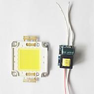 billige Strømafbryder & Stik-8w cob led diy chip bordpanel perle med led strømforsyning driver