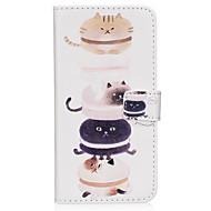 Недорогие Чехлы и кейсы для Galaxy S7 Edge-Кейс для Назначение SSamsung Galaxy S8 Plus S8 Бумажник для карт Кошелек со стендом Флип Магнитный С узором Чехол Кот Твердый Кожа PU для