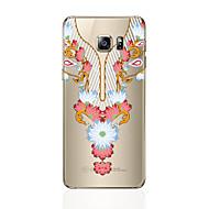 Недорогие Чехлы и кейсы для Galaxy S7 Edge-Кейс для Назначение SSamsung Galaxy S8 Plus S8 Прозрачный С узором Кейс на заднюю панель Кружева Печать Мягкий ТПУ для S8 Plus S8 S7 edge