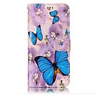Кейс для Назначение SSamsung Galaxy S8 Plus S8 Кошелек Бумажник для карт со стендом Флип Рельефный С узором Чехол Бабочка Твердый
