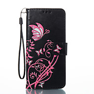 Недорогие Чехлы и кейсы для Galaxy S2-Кейс для Назначение SSamsung Galaxy S8 Plus S8 Бумажник для карт Кошелек со стендом Флип Магнитный С узором Рельефный Чехол Бабочка