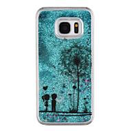 Недорогие Чехлы и кейсы для Galaxy S7-Кейс для Назначение SSamsung Galaxy S8 Plus S8 Движущаяся жидкость Прозрачный С узором Кейс на заднюю панель Прозрачный одуванчик Сияние