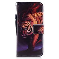 Недорогие Чехлы и кейсы для Galaxy S7-Кейс для Назначение SSamsung Galaxy S8 Plus S8 Бумажник для карт Кошелек со стендом Флип Магнитный С узором Чехол Животное Твердый Кожа PU
