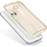 Недорогие Чехлы и кейсы для Galaxy S-Кейс для Назначение SSamsung Galaxy Прозрачный / Полупрозрачный Кейс на заднюю панель Однотонный Мягкий ТПУ для S7