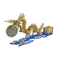 cheap Toys & Hobbies-Jigsaw Puzzles 3D Puzzles Building Blocks DIY Toys Dragon Wood Model & Building Toy