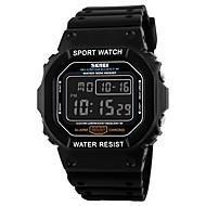 Недорогие Фирменные часы-SKMEI Муж. Цифровой электронные часы Спортивные часы Календарь Защита от влаги Хронометр PU Группа Кулоны Черный