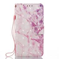 Для samsung galaxy a3 (2017) a5 (2017) чехол для случая с розовым мраморным рисунком 3d окрашенный карточный стент кошелек для телефона