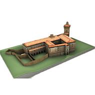 billige Legetøj og hobbyartikler-3D-puslespil Papirmodel Papirkunst Modelbyggesæt Borg Berømt bygning Arkitektur GDS Klassisk Unisex Gave