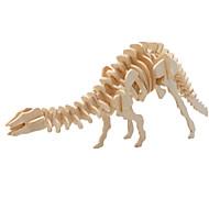 preiswerte Spielzeuge & Spiele-3D - Puzzle Holzpuzzle Holzmodelle Dinosaurier Flugzeug Berühmte Gebäude Architektur 3D Heimwerken Holz Klassisch Unisex Geschenk