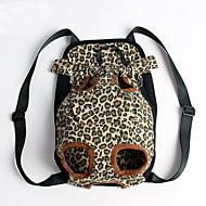 お買い得  -ネコ 犬 キャリーバッグ フロントバックパック ペット用 カバー 携帯用 ヒョウ柄 ブルー ピンク 迷彩色 ストライプ ヒョウ柄 ペット用