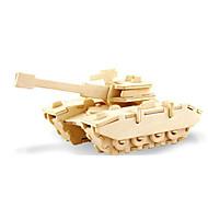 abordables Maquetas y Juguetes de Construcción-Puzzles 3D Puzzle Maquetas de madera Dinosaurio Tanque Aeronave 3D Manualidades De madera Madera Clásico Unisex Regalo