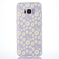 Кейс для samsung galaxy s8 s8 plus кейс крышка хризантема рисунок скраб полупрозрачный толстый материал tpu мягкий чехол для телефона