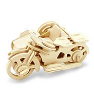 tanie Zabawki i hobby-Zabawki 3D Puzzle Drewniane modele Dinozaur Samolot Moto 3D DIY Drewniany Klasyczny Motor Dla obu płci Prezent