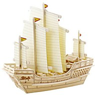 cheap Toys & Hobbies-3D Puzzles Jigsaw Puzzle Wood Model Toys Warship Ship 3D DIY Wood Natural Wood Unisex Pieces