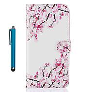 povoljno -Za Apple iphone 7 plus 7 6s plus 6s 5 5s se držač kartica držač novčanika s flip stalak uzorak puni tijelo slučaju s olovkom cvijet pu