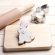 olcso Konyhai eszközök-1 Cookie Tools Rabbit Állatok Cartoon Shaped Kenyér Keksz Palacsinta Sajt Candy Sandwich Rozsdamentes acélKarácsony Esküvő Születésnap