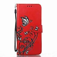Недорогие Чехлы и кейсы для Galaxy S-Кейс для Назначение SSamsung Galaxy S8 Plus S8 Бумажник для карт Кошелек со стендом Флип С узором Рельефный Чехол Цветы Твердый Кожа PU