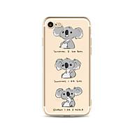 Obudowa dla telefonu iphone 7 plus 7 pokrowiec przezroczysty wzór obudowa tylna obudowa kreskówka koala miękka tpu dla jabłek iphone 6s