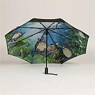 abordables Accesorios para la Lluvia-El plastico Hombre / Mujer / Chico Soleado y lluvioso Paraguas de Doblar