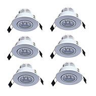 お買い得  -JIAWEN 3W 3 LED 埋込式ライト 温白色 クールホワイト AC85-265