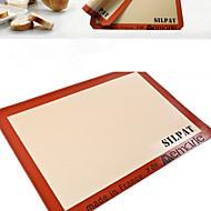 1 Stykke Bagværksredskaber Rektangulær Brød Småkage Tærte Pizza SilikoneBagning Værktøj Miljøvenlig Høj kvalitet Til Mikrobølgeovn