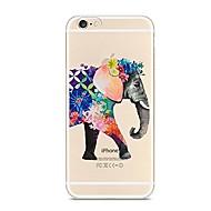 Назначение iPhone X iPhone 8 Чехлы панели Прозрачный С узором Задняя крышка Кейс для Слон Мягкий Термопластик для Apple iPhone X iPhone 8