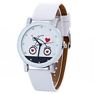 abordables Relojes de Moda-Mujer Reloj Casual Reloj Deportivo Reloj de Moda Cuarzo Creativo Cool Piel Banda Analógico Encanto Lujo Casual Negro / Blanco - Blanco Negro