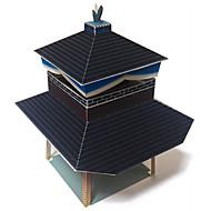 Χαμηλού Κόστους Αξεσουάρ για παιχνίδια και χόμπι-Παζλ 3D Χειροτεχνία με Χαρτί Πύργος Διάσημο κτίριο Αρχιτεκτονική 3D Φτιάξτο Μόνος Σου Hard Card Paper Κλασσικό Κινούμενα σχέδια Lovely