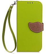 Недорогие Чехлы и кейсы для Galaxy A8-Кейс для Назначение SSamsung Galaxy A5(2016) A3(2016) Бумажник для карт Кошелек со стендом Флип Чехол Сплошной цвет Твердый Кожа PU для