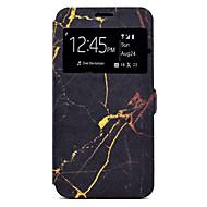 Кейс для Назначение SSamsung Galaxy A5(2017) A3(2017) Бумажник для карт со стендом С узором Чехол Мрамор Твердый Искусственная кожа для