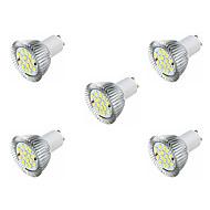 お買い得  LED スポットライト-5個 3.5W 360-400lm GU10 LEDスポットライト MR16 16 LEDビーズ SMD 5630 温白色 ホワイト 220-240V