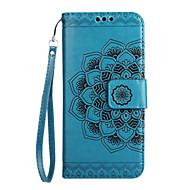 お買い得  携帯電話ケース-ケース 用途 Huawei カードホルダー ウォレット フリップ パターン エンボス加工 フルボディーケース 曼荼羅 フラワー ハード PUレザー のために Mate 9 Huawei Y6 II / Honor Holly 3 Huawei Y5 II / Honor 5