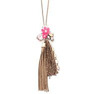 Жен. Ожерелья с подвесками Бижутерия В форме цветка Геометрической формы Сплав Цветочный дизайн Ленты Цветы Любовь Природа Цветочный