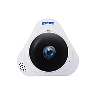 Escam® q8 960p 1.3mp 360-Grad-Panorama-Monitor fisheye wifi ir Infrarot-IP-Kamera mit Audio 128GB tf-Karte