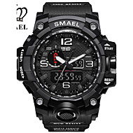 cheap Boy's Watches-SMAEL Men's Sport Watch Military Watch Digital Watch Japanese Digital 50 m Water Resistant / Water Proof Calendar / date / day Chronograph PU Silicone Band Analog-Digital Casual Fashion Black / Red