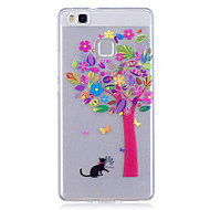 Недорогие Чехлы и кейсы для Huawei Honor-Чехол для huawei p10 lite p10 phone case tpu материал imd процесс цветной дерево узор hd телефон чехол чехол 8 p9 lite p8 lite y6 ii y5 ii