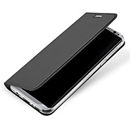 Недорогие Чехлы и кейсы для Galaxy S8 Plus-Кейс для Назначение SSamsung Galaxy S8 Plus / S8 Бумажник для карт / Флип Чехол Однотонный Твердый Кожа PU для S8 Plus / S8