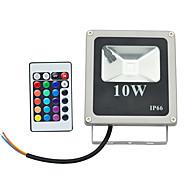 10W LED-valonheittimet 1 Teho-LED 800 lm RGB Kauko-ohjattava AC 85-265 V